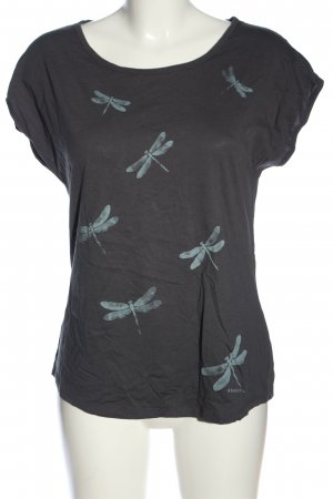 armedangels T-Shirt hellgrau-blau Motivdruck Casual-Look