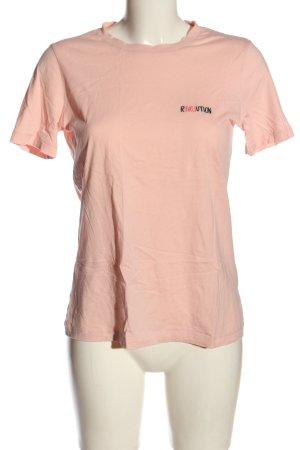 Armedangels T-shirt rose chair lettrage brodé style décontracté