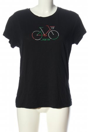 Armedangels T-Shirt schwarz Motivdruck Casual-Look