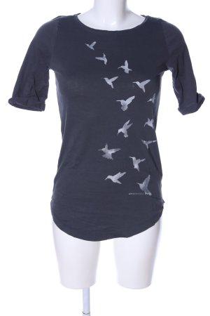 armedangels T-Shirt blau Motivdruck Casual-Look