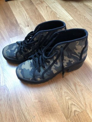 Armee Muster Carmouflage Plateauschuhe