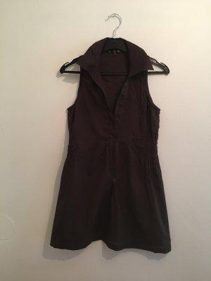Terranova Camicia lunga marrone-nero
