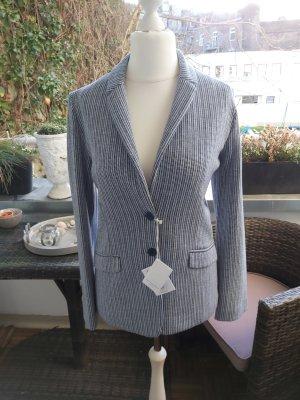 Amina Rubinacci Tweed blazer wit-donkerblauw