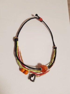 Armband zwart-oranje