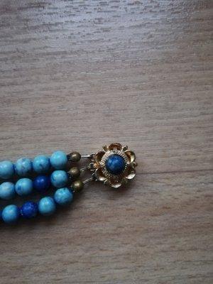Armkette blau mit Perlen