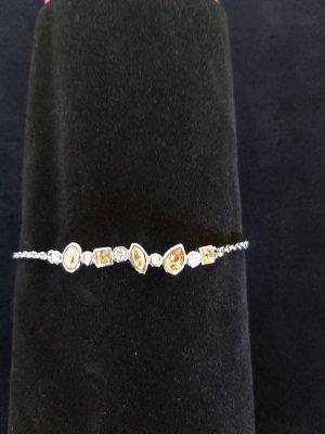 Armkette rhodiniert mit Swarovski-Elementen