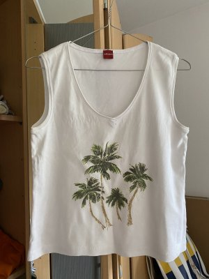Olsen Top cut-out bianco