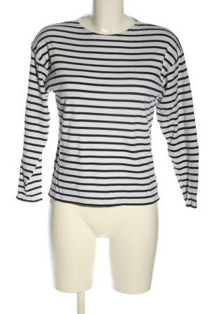 Armor Lux T-shirt rayé blanc-noir motif rayé style décontracté