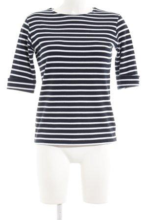 Armor Lux T-shirt rayé noir-blanc coton
