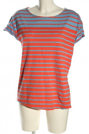 Armor Lux Stripe Shirt red-turquoise striped pattern casual look