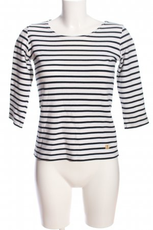 Armor Lux Stripe Shirt white-black striped pattern casual look