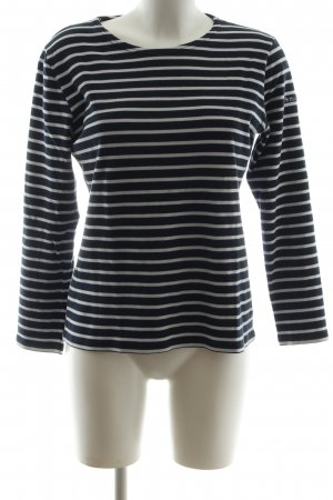Armor Lux Crewneck Sweater black-light grey striped pattern casual look