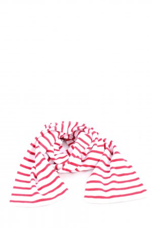 Armor Lux Knitted Scarf white-red striped pattern casual look