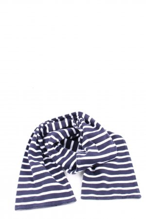 Armor Lux Knitted Scarf blue-white striped pattern casual look