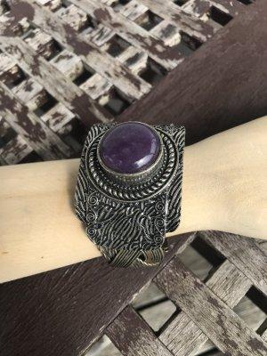Ajorca color plata-púrpura