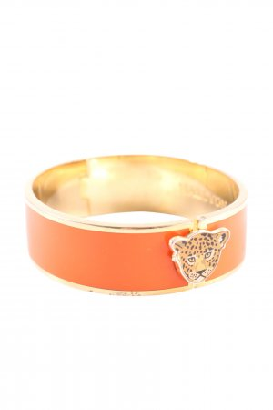 Bangle light orange-gold-colored casual look