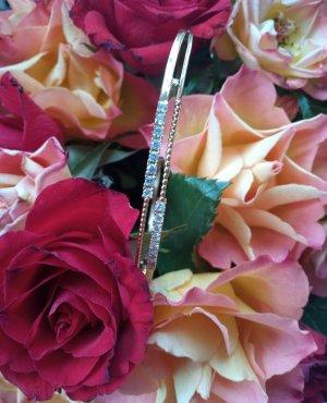 Armreif E Jewelry Gold Steinchen