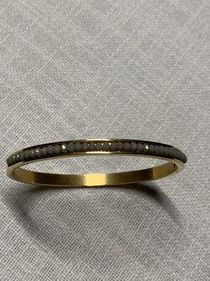 Mouwband goud-donkergrijs Metaal
