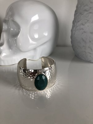 H&M Armlet silver-colored-dark green