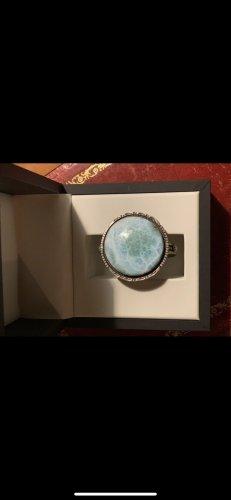 handmade Armlet silver-colored-azure