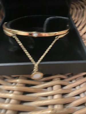 Bangle goud-wit