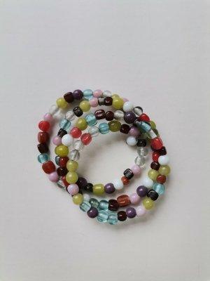 Bransoletki z perłami Wielokolorowy Tkanina z mieszanych włókien