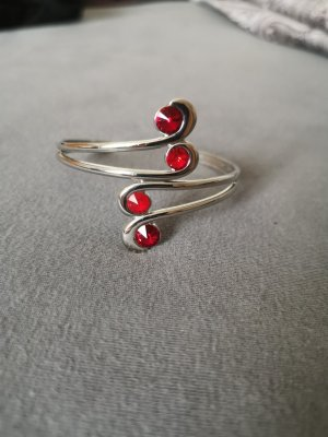 Bijou Brigitte Bangle silver-colored-red