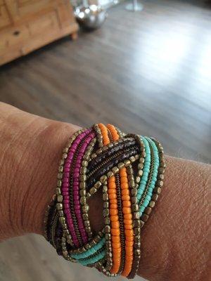 Bracelet de bras orange-turquoise