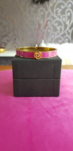 Stella & Dot Bangle gold-colored-violet