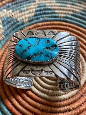 Ajorca color plata-turquesa
