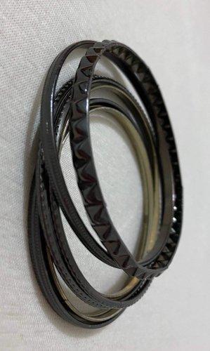 Jonc noir-argenté