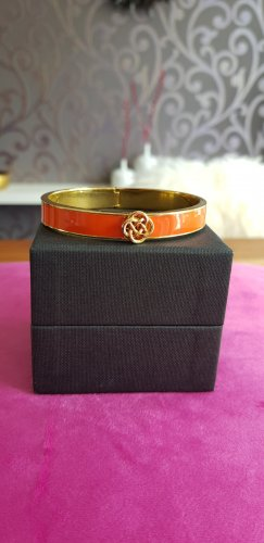Stella & Dot Bangle gold-colored-orange