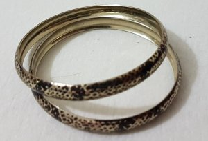 Vintage Bangle zwart-goud