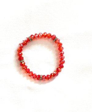 Bracelet argenté-rouge