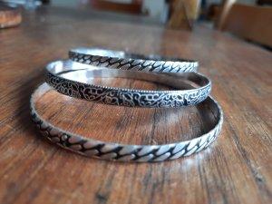Jonc argenté métal