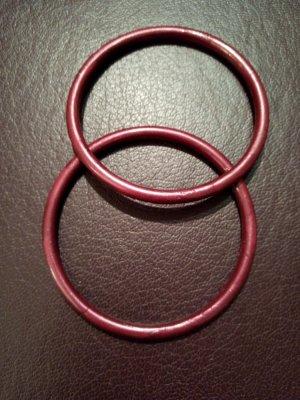 Armreifen rot Metallic-Glanz
