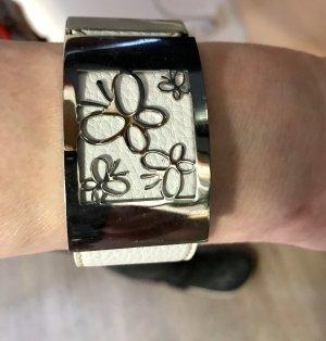 Sztywna bransoletka srebrny-w kolorze białej wełny