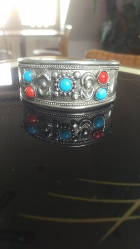 Bracelet de bras multicolore métal