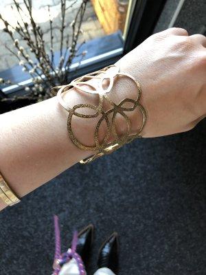 Armspange Gold Blüten