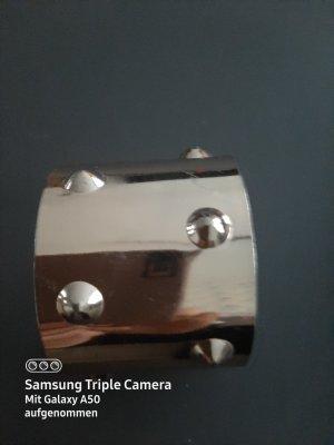 Sztywna bransoletka brąz-złoto