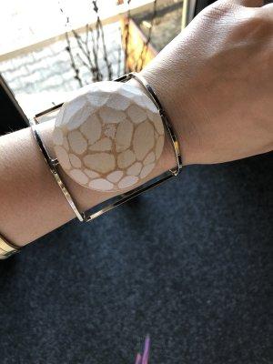 Armspange Zara Silber Holz