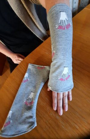 Hand made Legwarmers light grey-pink