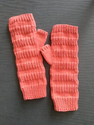 Fingerless Gloves orange