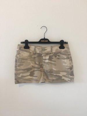 Army Militär Military Camouflage Sommer beige Sand Stein Kitt gemustert Mini Rock Five Pocket 28