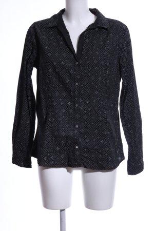 Arqueonautas Shirt Blouse black allover print business style