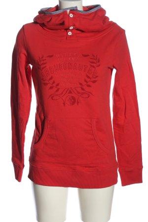 Arqueonautas Sweat à capuche rouge imprimé avec thème style décontracté