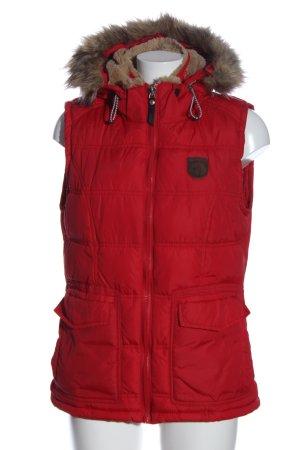Arqueonautas Capuchon vest rood quilten patroon casual uitstraling