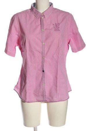 Arqueonautas Camicia a maniche corte rosa-bianco motivo a quadri stile casual
