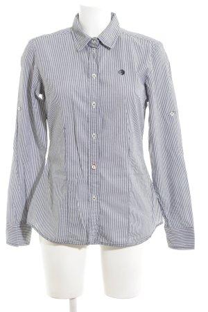 Arqueonautas Langarm-Bluse blau-weiß Streifenmuster Business-Look