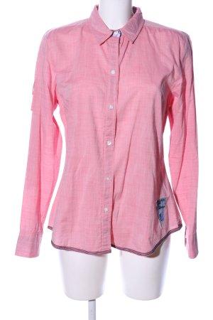 Arqueonautas Chemise à manches longues rose moucheté style décontracté
